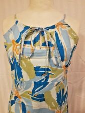 TRESSPASS Cotton Surfwear Beach Dress 100% Cotton Adjustable Spaghetti Strap XS