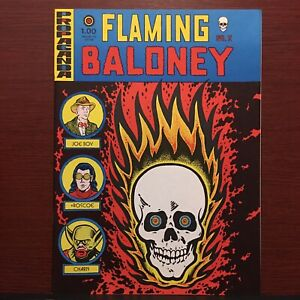 SIGNED Flaming Baloney 1970s Underground Comix Harvey Pekar Gary Dumm Rare NM 👀