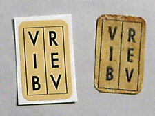 """""""Aged"""" Vintage Reproduction VIB/REV Footswitch Decal Sticker For Fender F/S"""