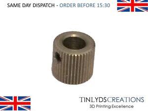 MK7/8 Extruder Drive Gear 40 Teeth 6.35mm Bore -Stainless Steel 3D Printer Part