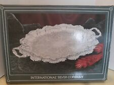 International Silver Company Silverplated Chippendale Footed Tray With Handles