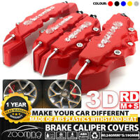 4P Red Universal Auto 3D Brake Caliper Covers Style Disc Front and Rear Kits UK