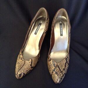 George Ladies Shoes Snake Skin Look EU38
