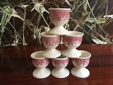 Villeroy & Boch BURGENLAND in Red, 6 Beautiful Egg Cup on Foot