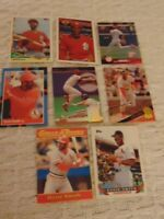 OZZIE SMITH 1988-1997 Card Lot featuring 1990 Collect-A-Books #5 Cardinals HOF