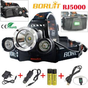 BORUiT Fishing Light 30000 LM 3xxm-l 3t6 LED Headlamp Headlight Head Torch USB