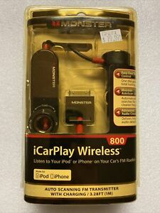 Monster iCarplay Wireless FM Transmitter Car Charger. iPod, iPhone, FM Presets.