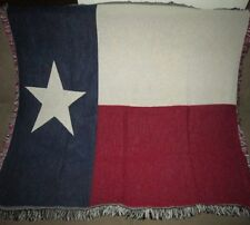 New Texas State Flag Mini Afghan Tapestry Throw Blanket Gift Lone Star TX Texan