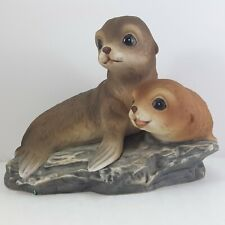 Masterpiece by Homco Baby Seals Figurine 1981 Brown Seal Pups 7""
