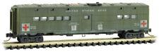 Micro-Trains MTL N-Scale Troop Sleeper Weathered US Army Hospital Car #8733