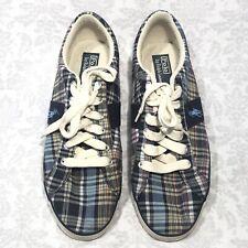 0f172cf7dce6 Men s Ralph Lauren Polo Madras Plaid Deck Boat Tennis Shoes Lace Up Size 11D