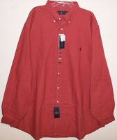 Polo Ralph Lauren Big and Tall Mens Red Classic Button-Front Shirt NWT Size LT