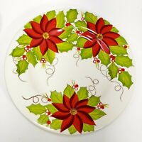 "11"" Glazed Earthenware Dinner Plate Poinsettia by PIER 1 Imports"