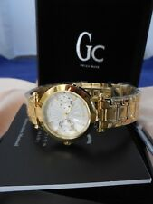 Guess I25011L Gc Swiss Made Women's GOLD Face and Bracelet Ladies Watch with Box