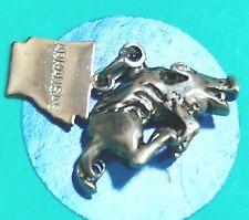 Q1 Arkansas Razor Back Sterling Silver Vintage Charm Bracelet
