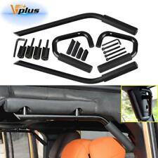 Front Rear Roll Grab Handle Bars Steel Side Door Set For Jeep Wrangler JK 07-17