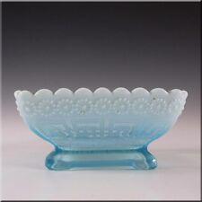 Davidson Blue Pearline Glass 'Daisy + Greek Key' Bowl