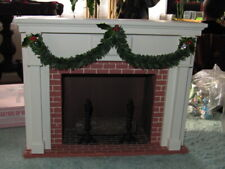 New ListingByers Choice Fireplace Holly Decorated Fireplace - 2000