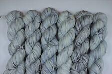 Hand Dyed Superwash Merino, Nylon Fingering Weight Sock Yarn in Morning Mist
