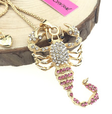 Pendant Betsey Johnson Rhinestone Jewelry Fashion Chain Scorpion Necklaces
