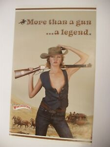 Vintage Orig Winchester Girl More than a Gun a Legend Paper Poster Advertisement