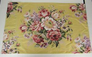 Ralph Lauren Cotton Floral Yellow Sophie Brooke Pillowcase Standard