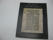 Kestenbaum Auction Catalog Rare Judaica, Books, Manuscripts, Letters Jun 25 2015