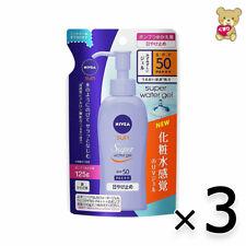 ☀[3pack set]NIVEA SUN Super Water Gel Sunscreen Pump Refill 125g SPF50 PA+++