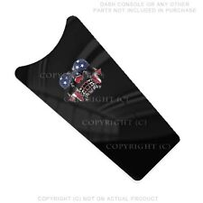 Console Dash Skin For Harley Touring 87-07  -  USA FLAG GHOST SKULL - 167