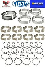 FORD 351W WINDSOR CLEVITE ROD & MAIN BEARINGS WITH HASTINGS PISTON RINGS 69 - 76