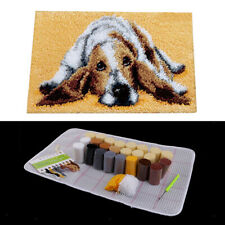 Animal Pattern Latch Hook Rug Kits with Tools Diy Home Ornaments -Dog
