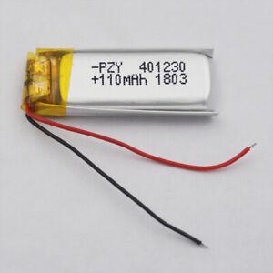 3.7v 110mah polymer Li battery 401230 for Mp3 GPS Glasses Bluetooth headset pen