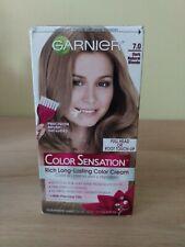 Garnier Color Sensation Color Cream 7.0 Dark Natural Blonde Non-Drip Sealed Box