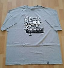 WE NEED QUALITY Control Gray Men's T Shirt Sz L Urban Street Art Streetwear New