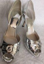 Dior Shoe Silver Metallic Peep Toe Metallic Peep Toe new size 38.5