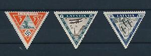 [45174] Latvia 1933 Airmail Wounded Aviators Triangles Perforated MNH