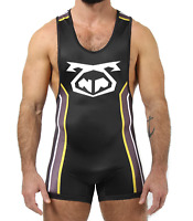 Details about  /NWT NASTY PIG MASCOT WRESTLING STYLE SINGLET BLACK RED SIZE M