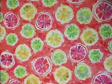 Grapefruit Fruit Lemon Lime Tropical Mod Bright Digital Art Cotton Fabric Bthy