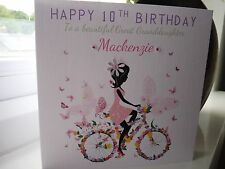 Handmade Personalised Female Girls Birthday Card Daughter Granddaughter Sister