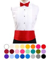 Solid Color Adult Bow Tie & Cummerbund Set (CBT1301)
