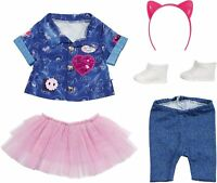 Zapf Creation Baby Born Deluxe Jeans Dress 43cm Dolls Baby Doll Outfit Set