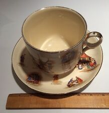 Vintage 1952 *JUMBO* ROYAL WINTON Old English Markets Porcelain Cup & Saucer