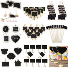 Mini Wooden Chalkboard Blackboard Message Table Number Wedding Party Decoration