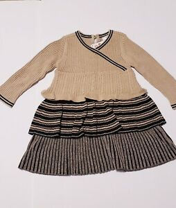 Hanna Andersson Sweater Dress sz 80 18-24 Mew Brown