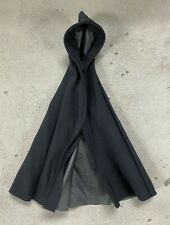 Pb-Lk-Blk: Wired Black Hooded Cape for 6 inch action figures (No Figure)