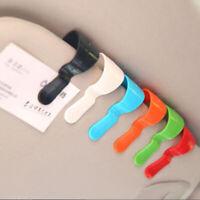 2Pcs Car Vehicle Visor Glasses Pen Holder Ticket Holder Clip Fastener Sti RAS