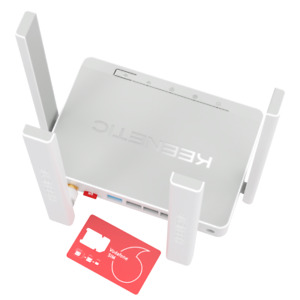 Keenetic Runner N300 Mesh Wi-Fi 4G Modem Router with a 4-Port Smart Switch