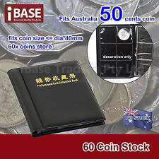 COIN HOLDER COLLECTION COLLECTING ALBUM STOCK STORAGE MONEY POCKET PENNY BOOK 60