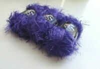 Bizzy1, Lion Brand Yarn, Fun Fur, Purple #191 Violet  3 Skeins = 180 Yards