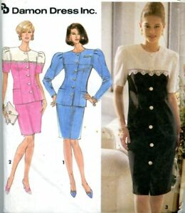 Cut Sewing Pattern Ladies Jacket Skirt Suit Size 12